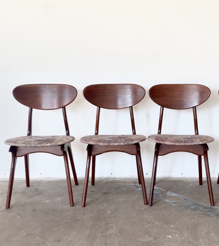 Vintage Dining Chairs by Louis van Teeffelen for WB Set of 3 for