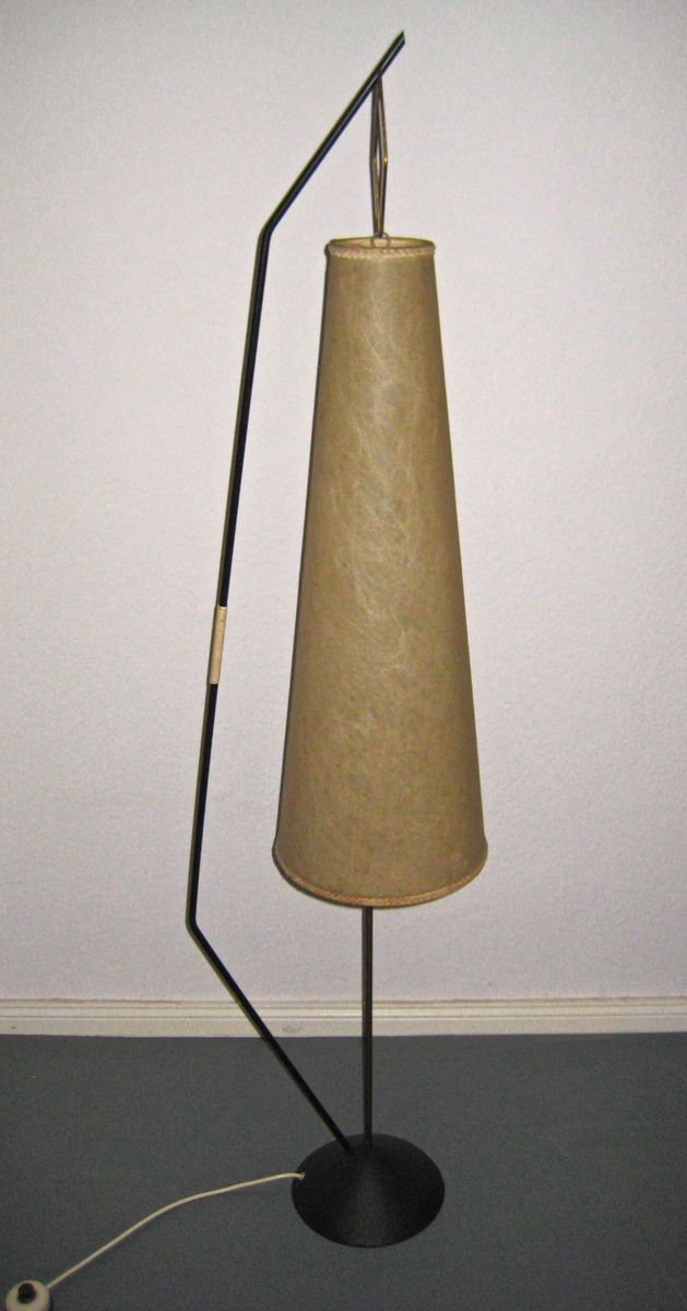 Mid century floor lamp with paper shade 1950s for sale at pamono mozeypictures Image collections