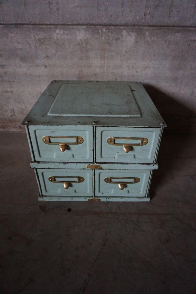 Babyblauer Industrie Metall Aktenschrank von Strafor, 1930er bei ...
