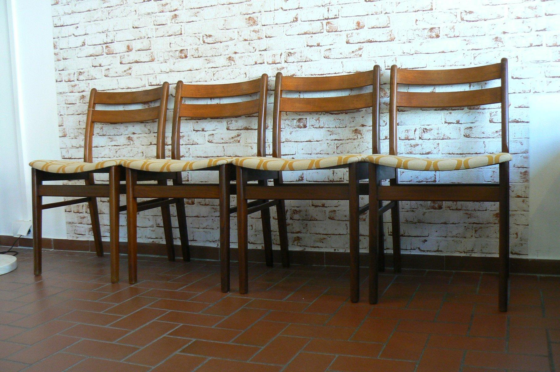 Danish Teak Dining Chairs 1970s Set Of 4