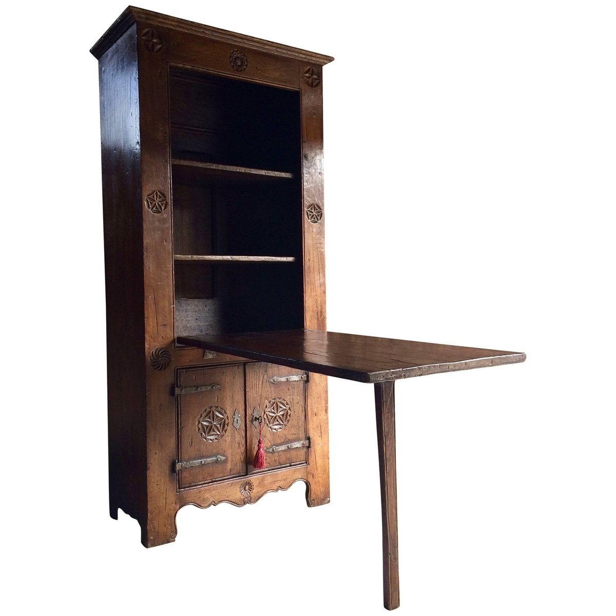 16th Century Dutch Solid Oak Cabinet Drop Down Table 1570s For At Pamono