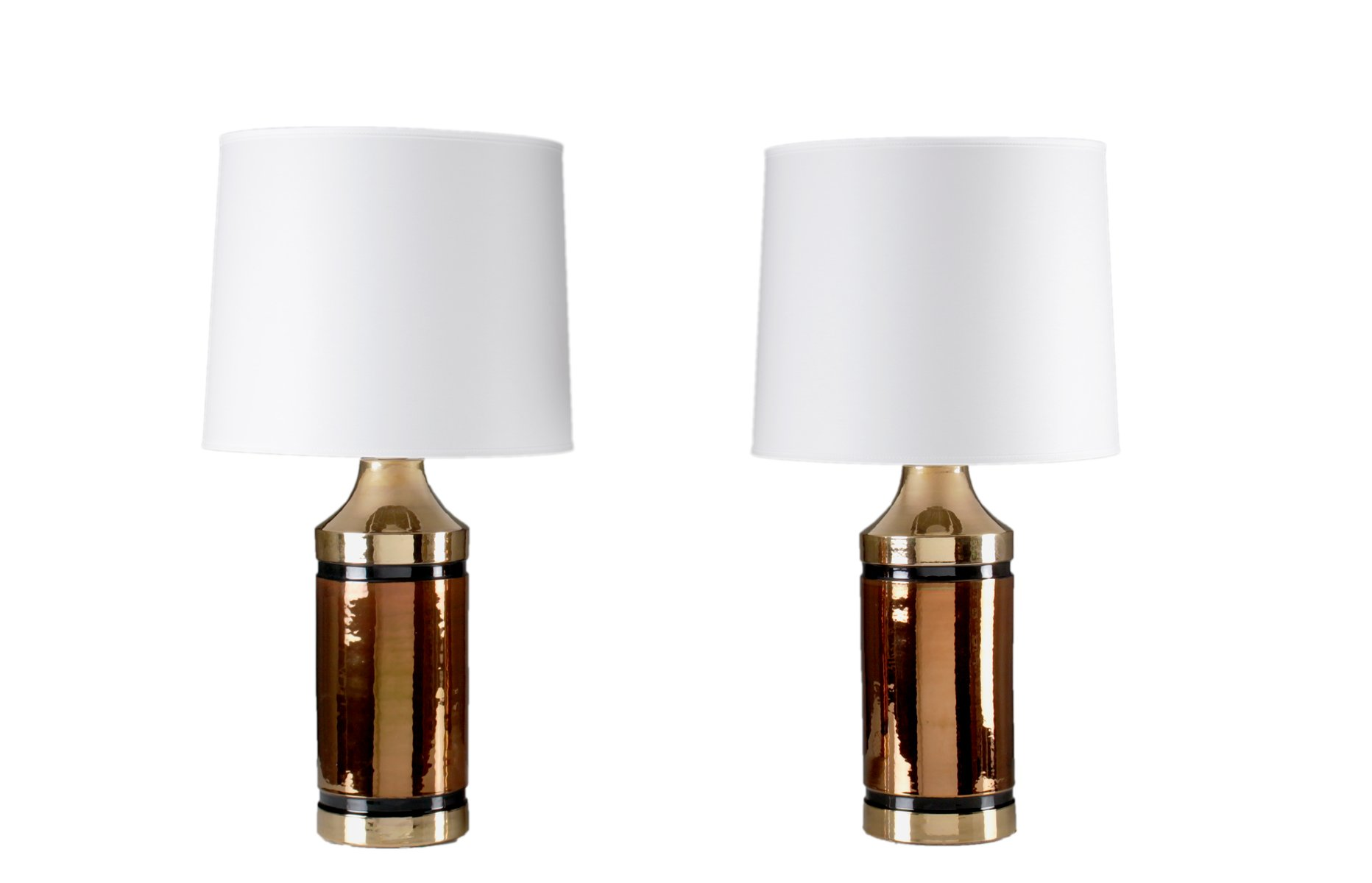 Glazed ceramic table lamps by bitossi for bergbom set of 2 for sale glazed ceramic table lamps by bitossi for bergbom set of 2 audiocablefo