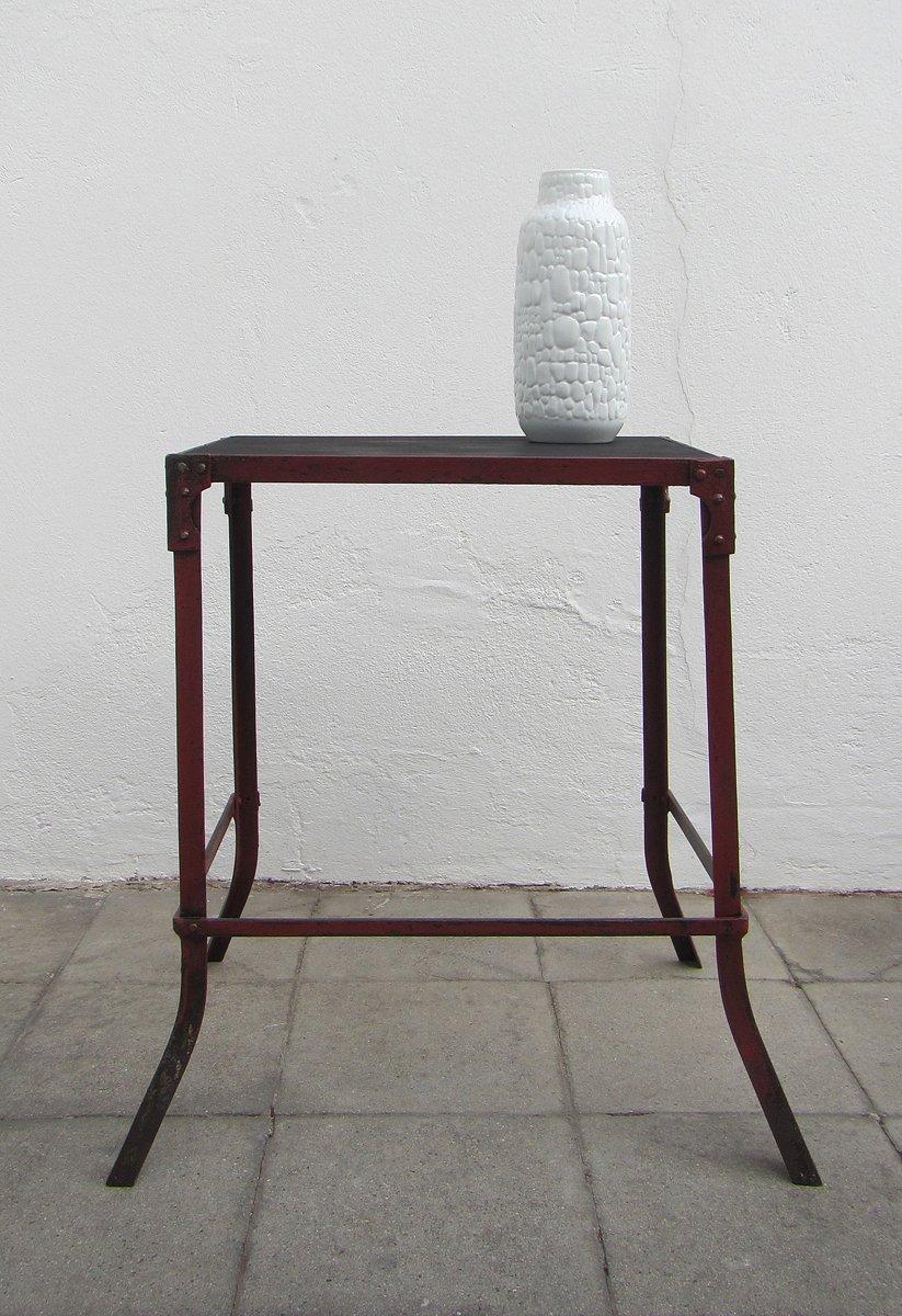 belgischer metall beistelltisch 1910er bei pamono kaufen. Black Bedroom Furniture Sets. Home Design Ideas