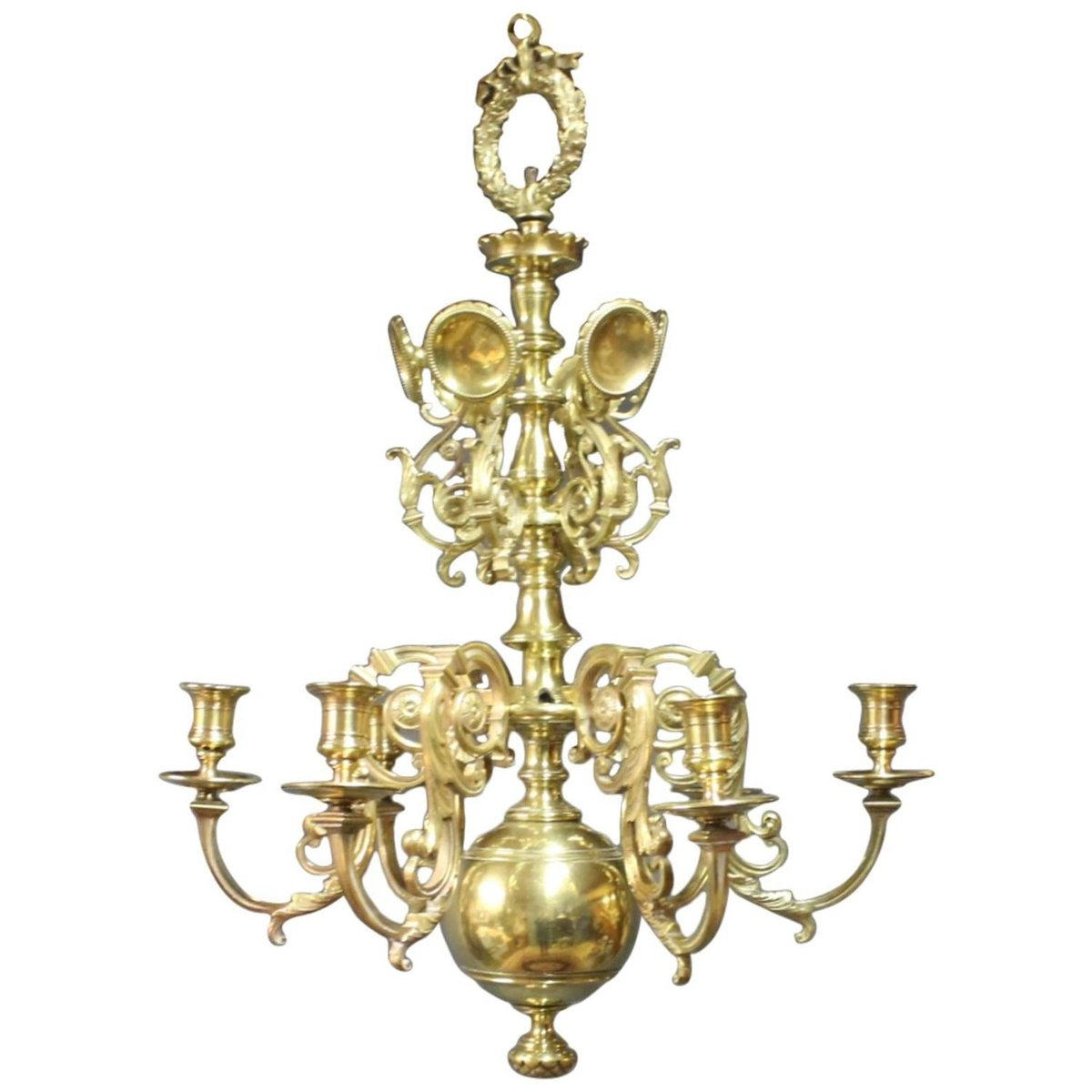antique brass church chandelier 1850s en vente sur pamono. Black Bedroom Furniture Sets. Home Design Ideas