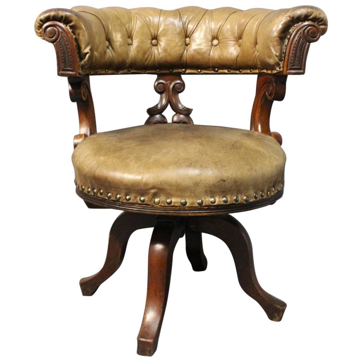 mahagoni leder b rostuhl 1880er bei pamono kaufen. Black Bedroom Furniture Sets. Home Design Ideas
