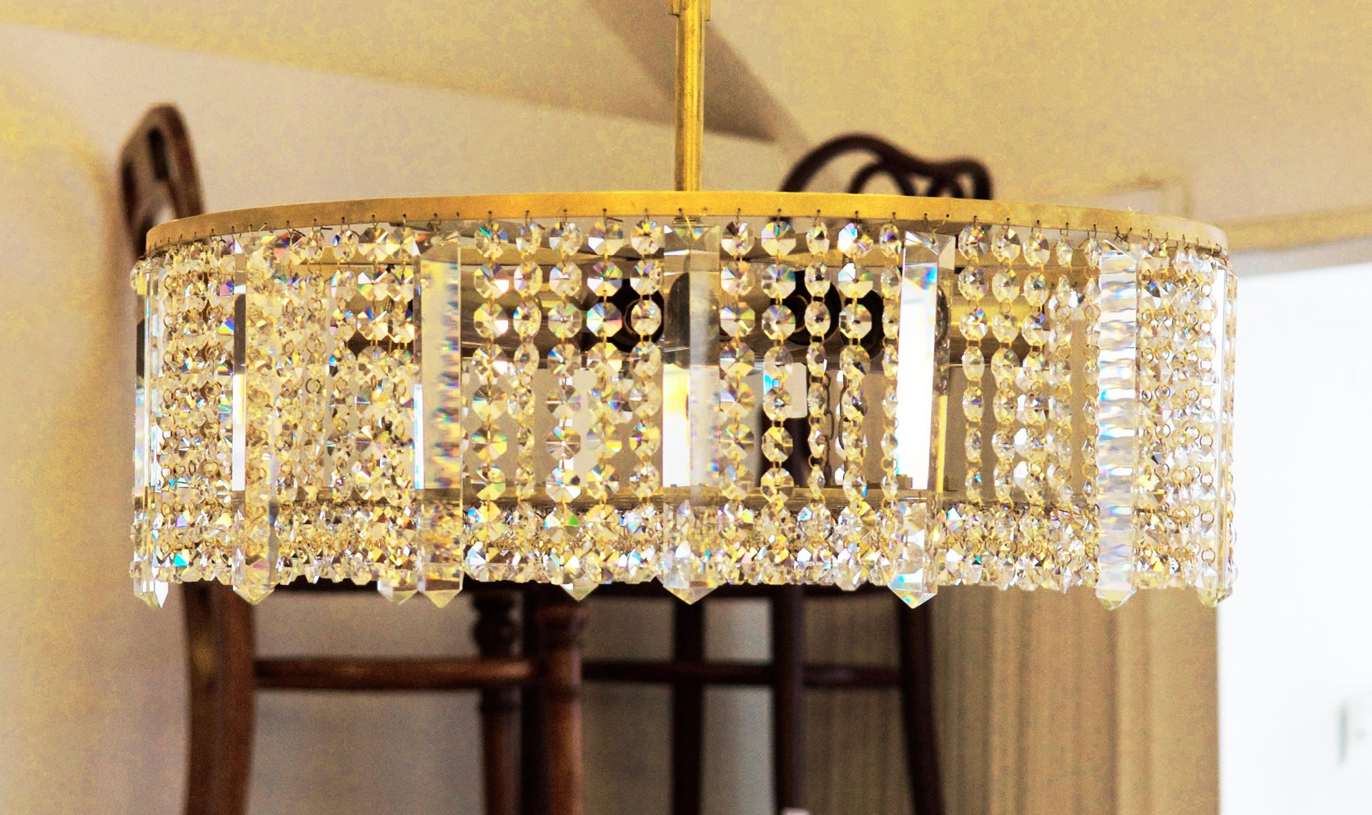 Austrian Cut Crystal Chandelier from Bakalowits & Söhne for sale