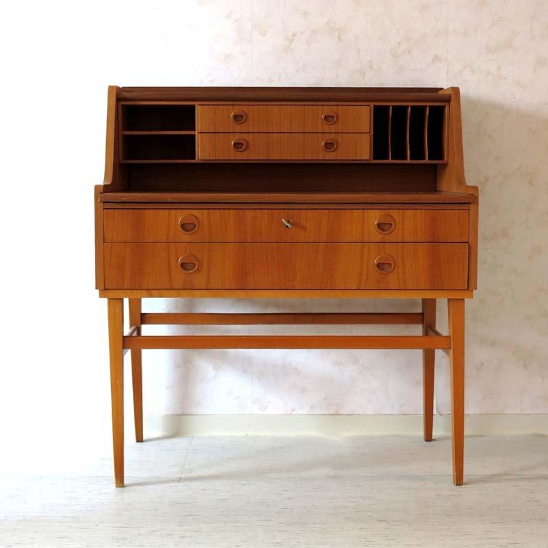d nischer sekret r mit schubladen und schrankf chern 1960er bei pamono kaufen. Black Bedroom Furniture Sets. Home Design Ideas