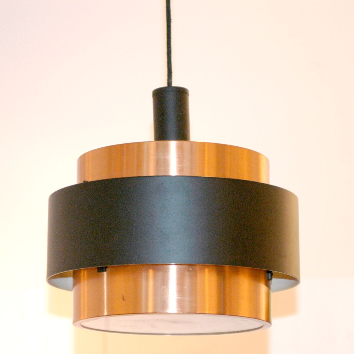 lampe suspension scandinave moderne en cuivre 1960s en vente sur pamono. Black Bedroom Furniture Sets. Home Design Ideas