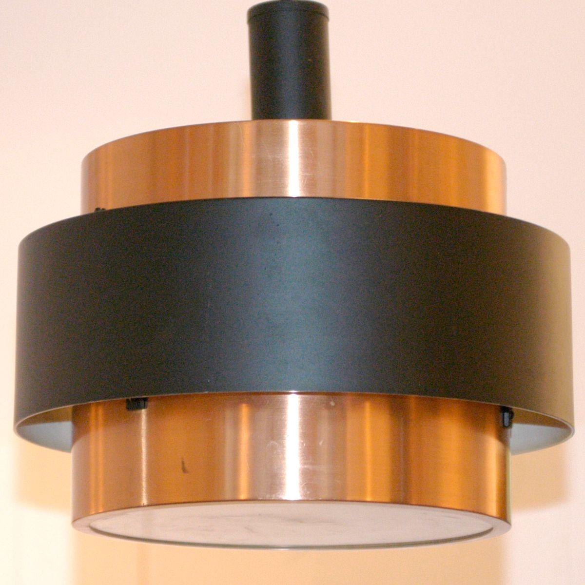 scandinavian modern h ngelampe aus kupfer 1960er bei. Black Bedroom Furniture Sets. Home Design Ideas