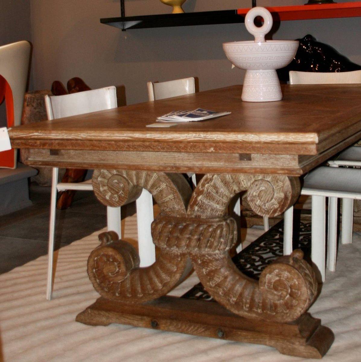 Table de salle manger art d co en ch ne et fer par jean charles moreux 1937 en vente sur pamono for Salle a manger jean