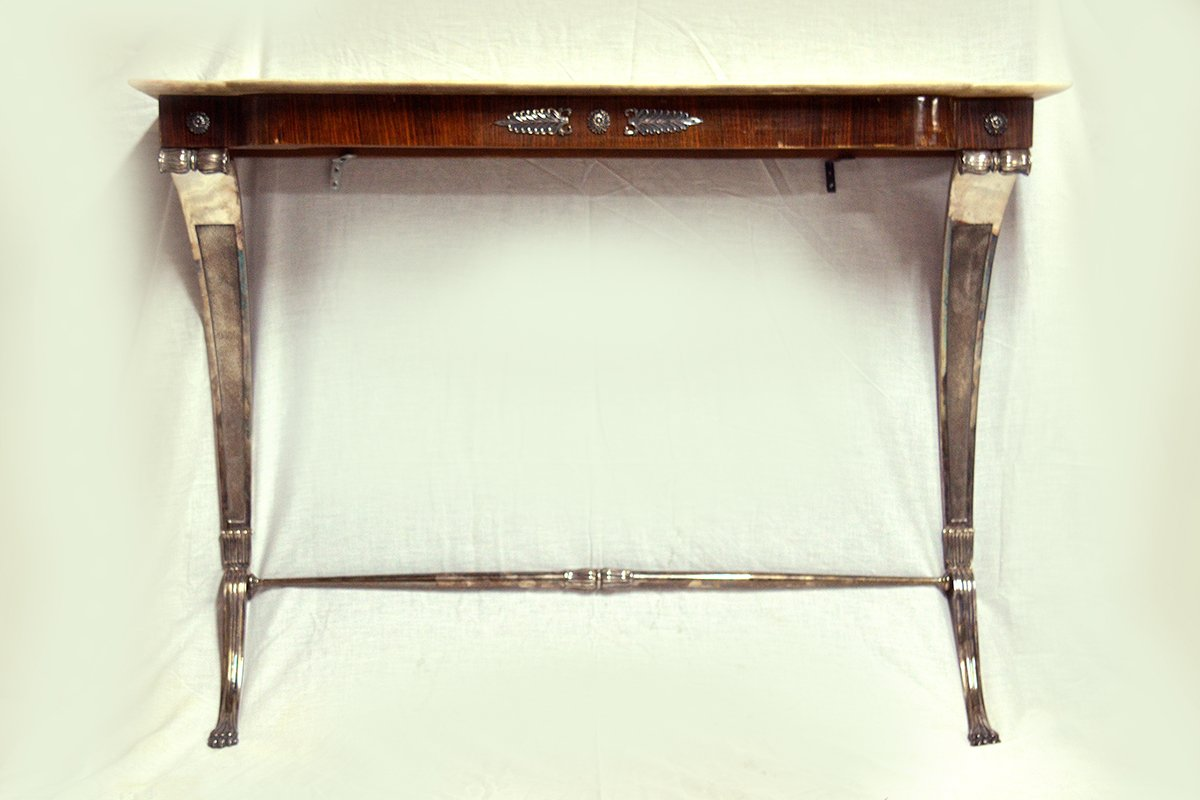 Vintage italian rosewood console table for sale at pamono for Sofa table vintage