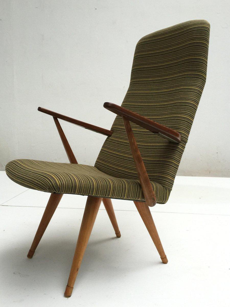 Swedish Lounge Chair With De Ploeg Fabric From Akerblom, 1960s