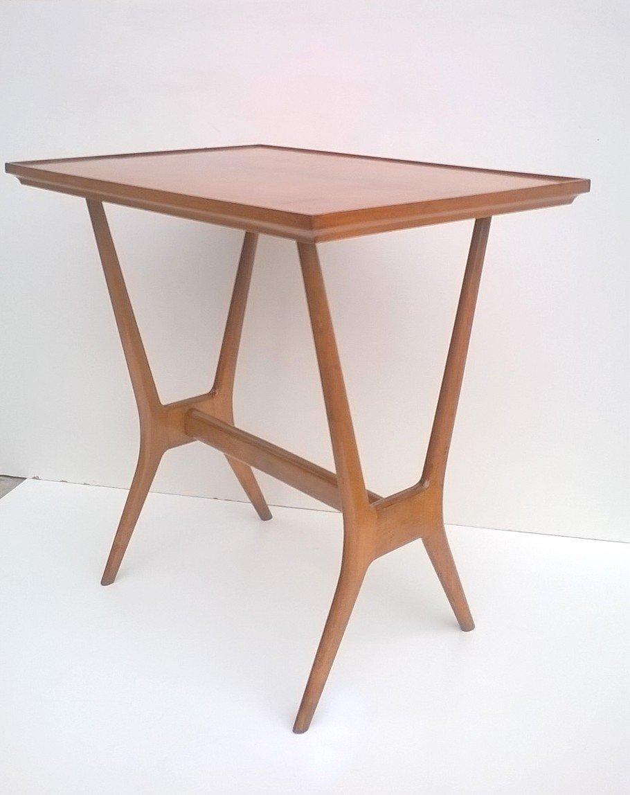 holz beistelltisch 1950s bei pamono kaufen. Black Bedroom Furniture Sets. Home Design Ideas