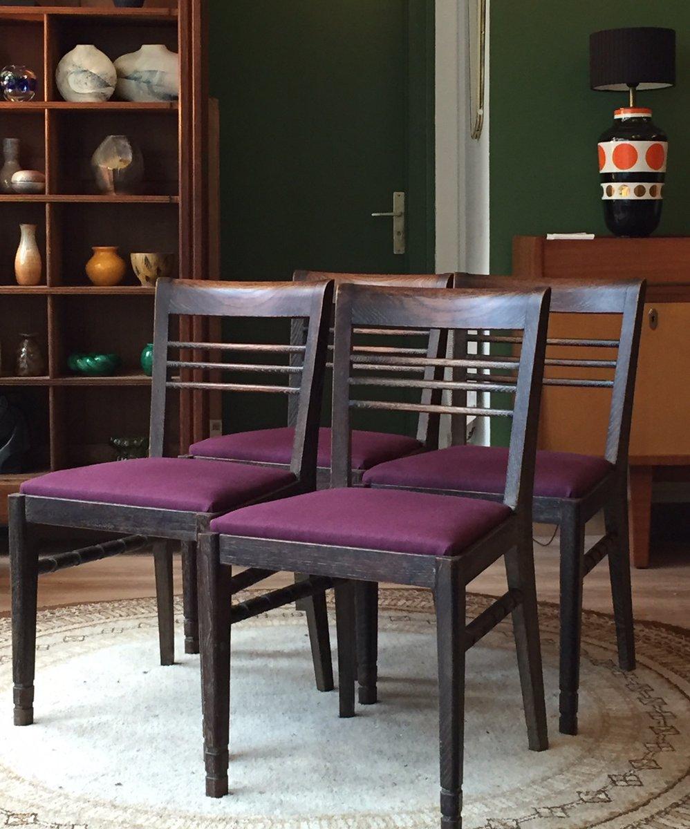 franz sische vintage st hle 4er set bei pamono kaufen. Black Bedroom Furniture Sets. Home Design Ideas