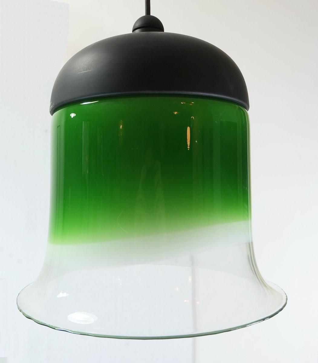 h ngende glas glockenlampe von peill putzler 1960er bei pamono kaufen. Black Bedroom Furniture Sets. Home Design Ideas