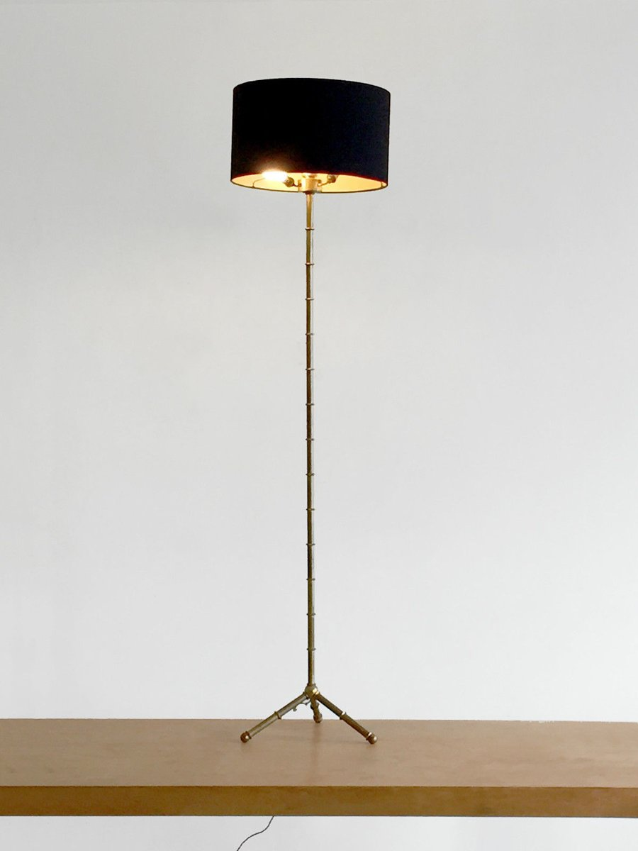 Bronze Bamboo Floor Lamp, 1950s For Sale At Pamono