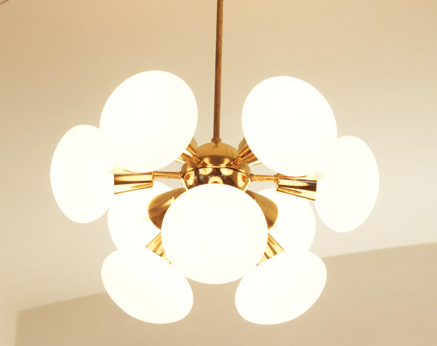 Mid century sputnik milk glass chandelier 1960s for sale at pamono price per piece aloadofball Images