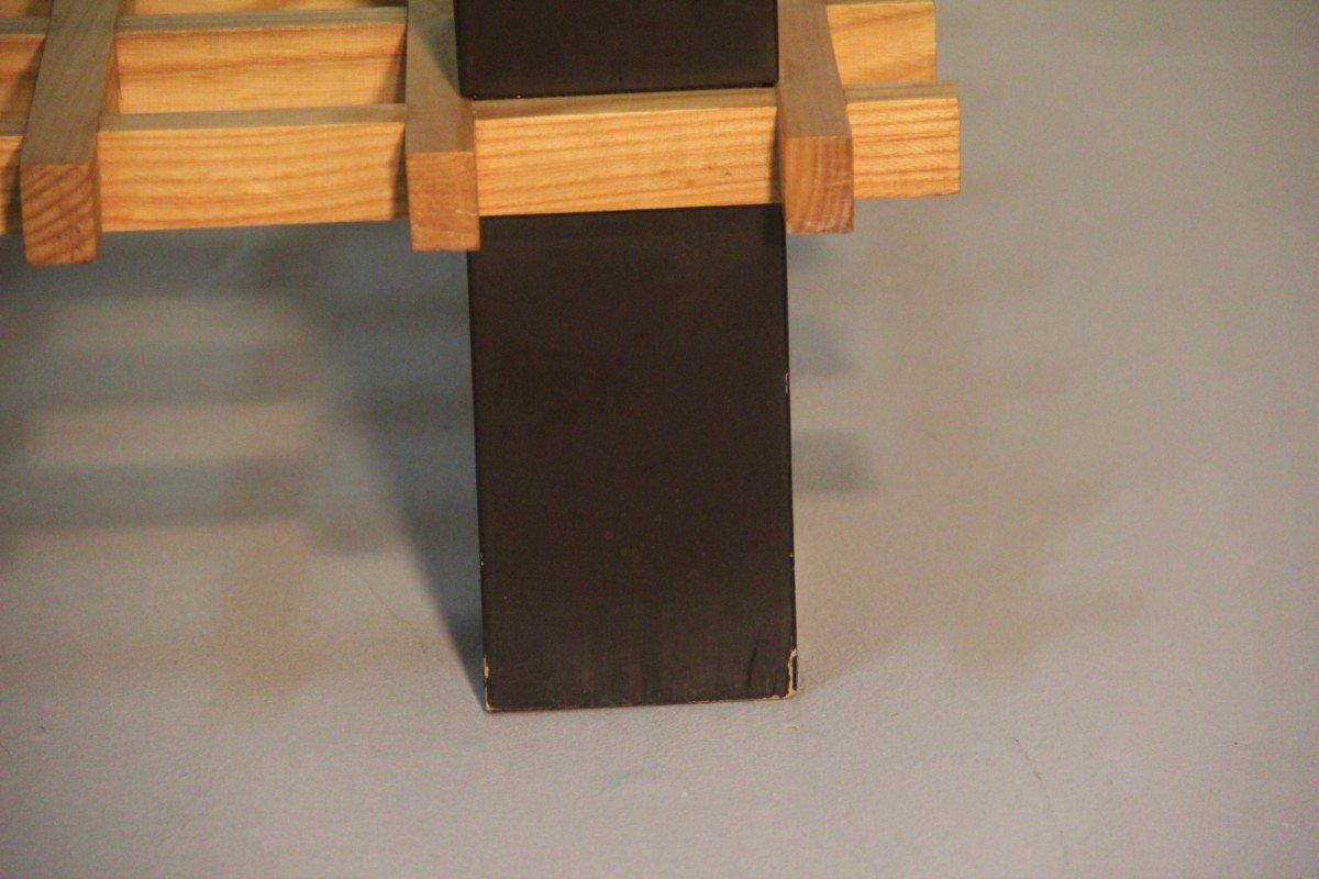 italienischer minimalistischer couchtisch aus holz glas. Black Bedroom Furniture Sets. Home Design Ideas