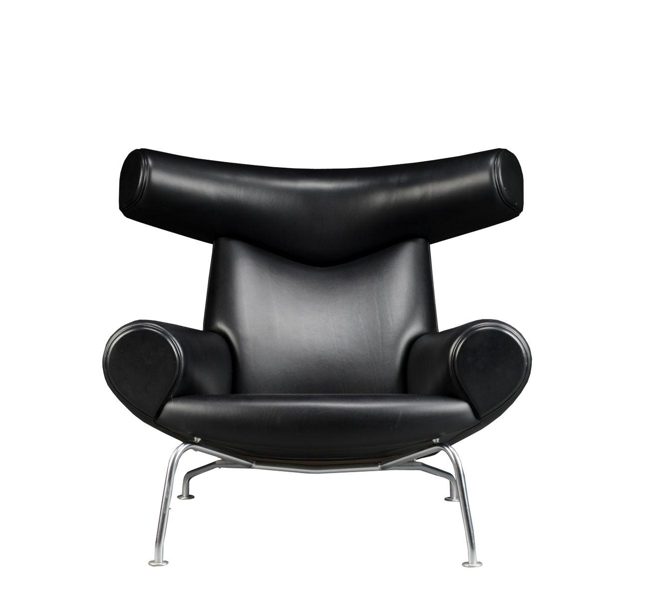 hans j wegner furniture. Vintage EJ-100 Ox Chair And Ottoman By Hans J. Wegner For Erik Jorgensen J Furniture