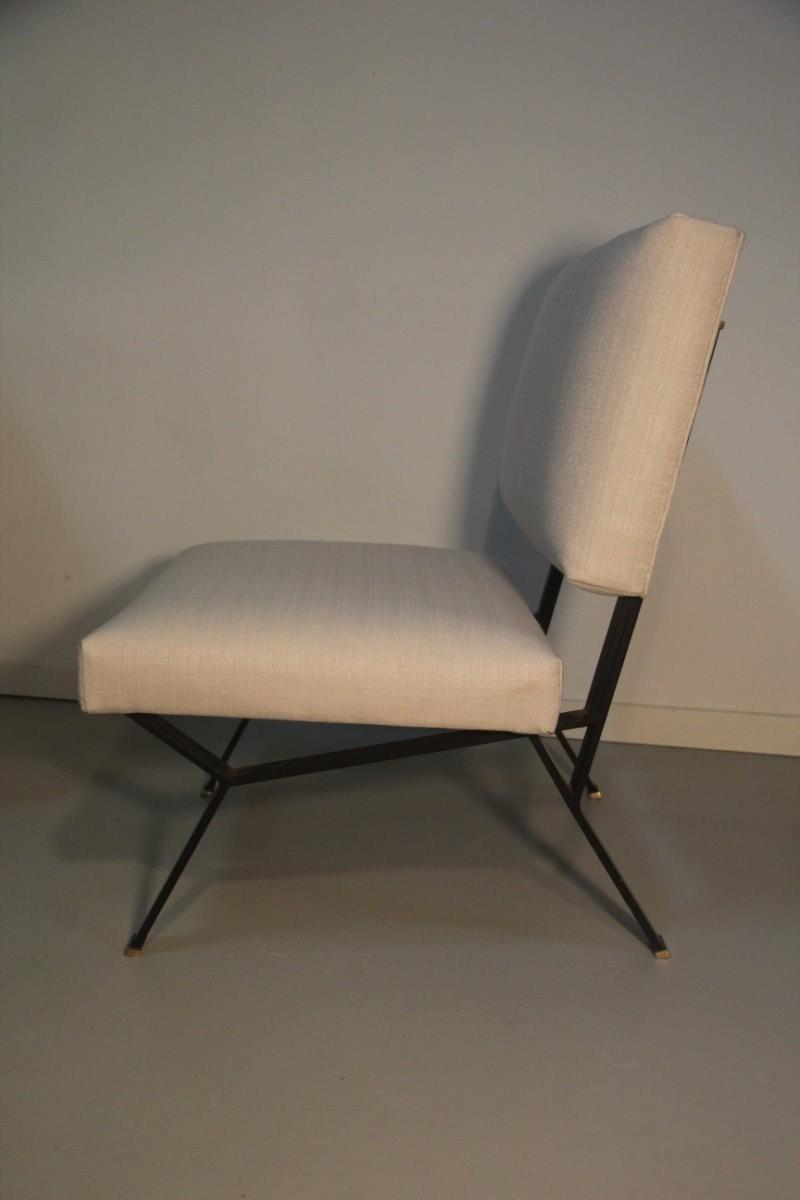italienische minimalistische lounge sessel 1950er 2er set bei pamono kaufen. Black Bedroom Furniture Sets. Home Design Ideas