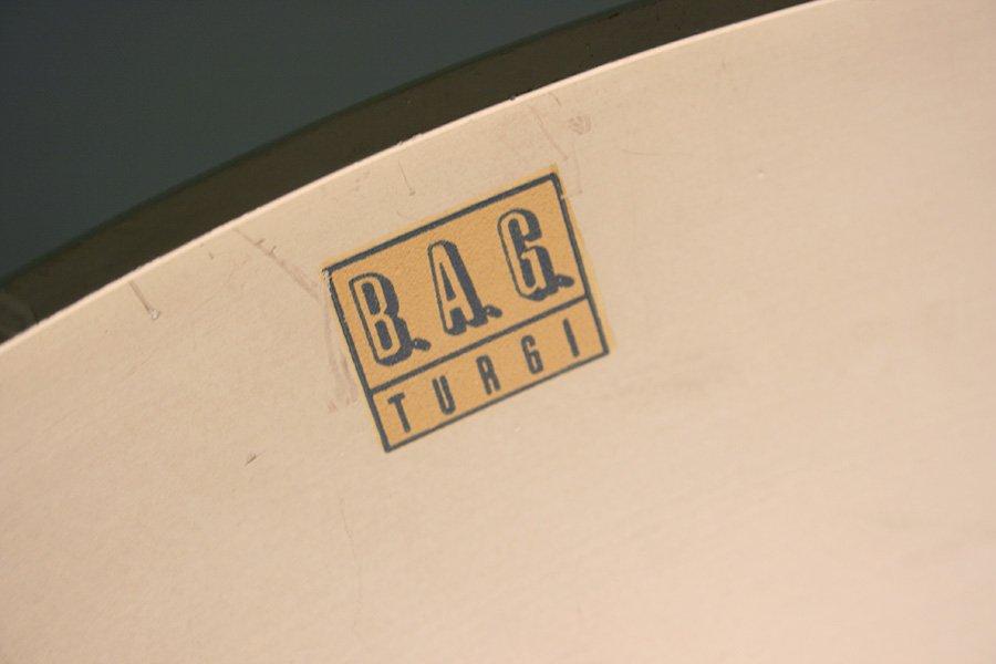 h ngelampe mit milchglas schirm von bag turgi bei pamono kaufen. Black Bedroom Furniture Sets. Home Design Ideas