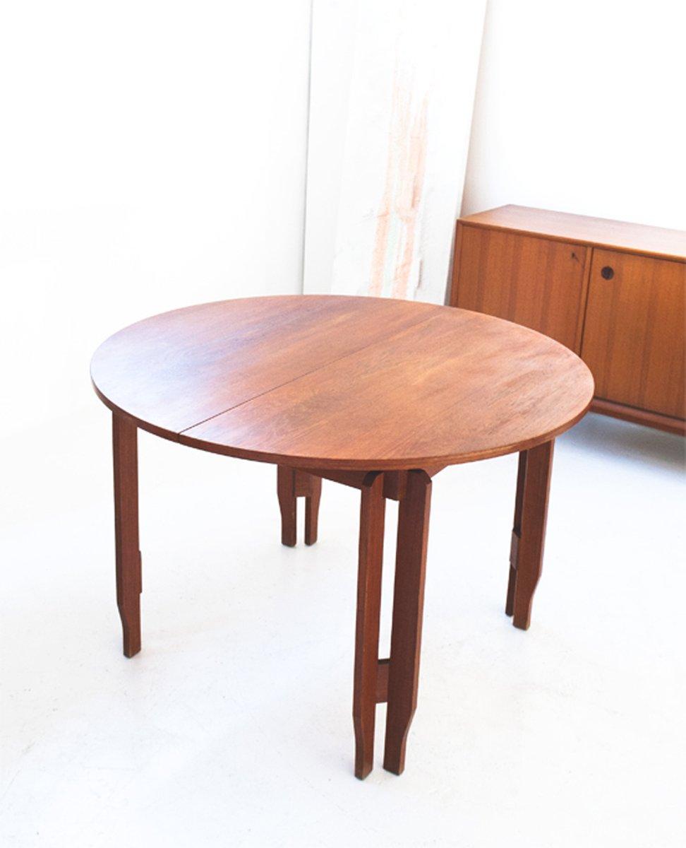 schwedischer ausziehbarer esstisch aus teakholz 1960er bei pamono kaufen. Black Bedroom Furniture Sets. Home Design Ideas