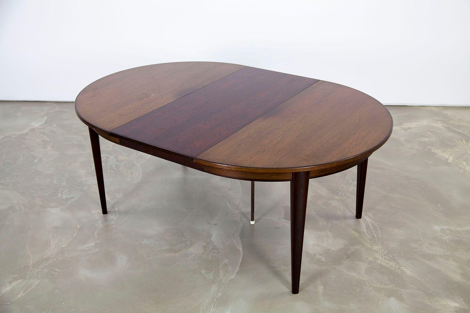 Danish extendable dining table model 55 by omann junior for Tinning table model