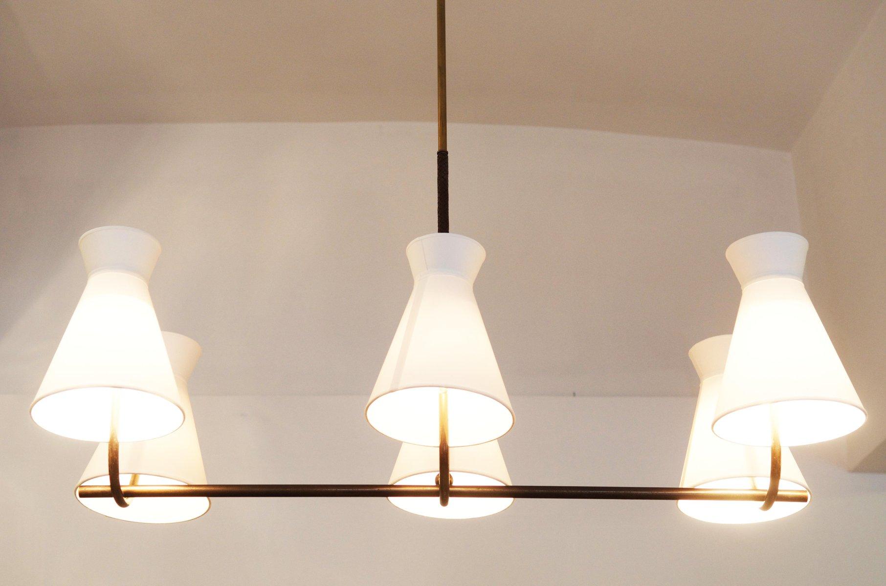 sterreichischer messing kronleuchter von josef frank. Black Bedroom Furniture Sets. Home Design Ideas