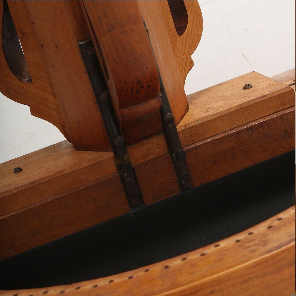 antiker armlehnstuhl aus kirschholz 1860er bei pamono kaufen. Black Bedroom Furniture Sets. Home Design Ideas