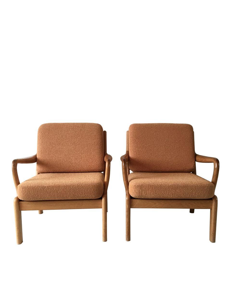 d nische lounge st hle von l olsen und son 1960er 2er set bei pamono kaufen. Black Bedroom Furniture Sets. Home Design Ideas