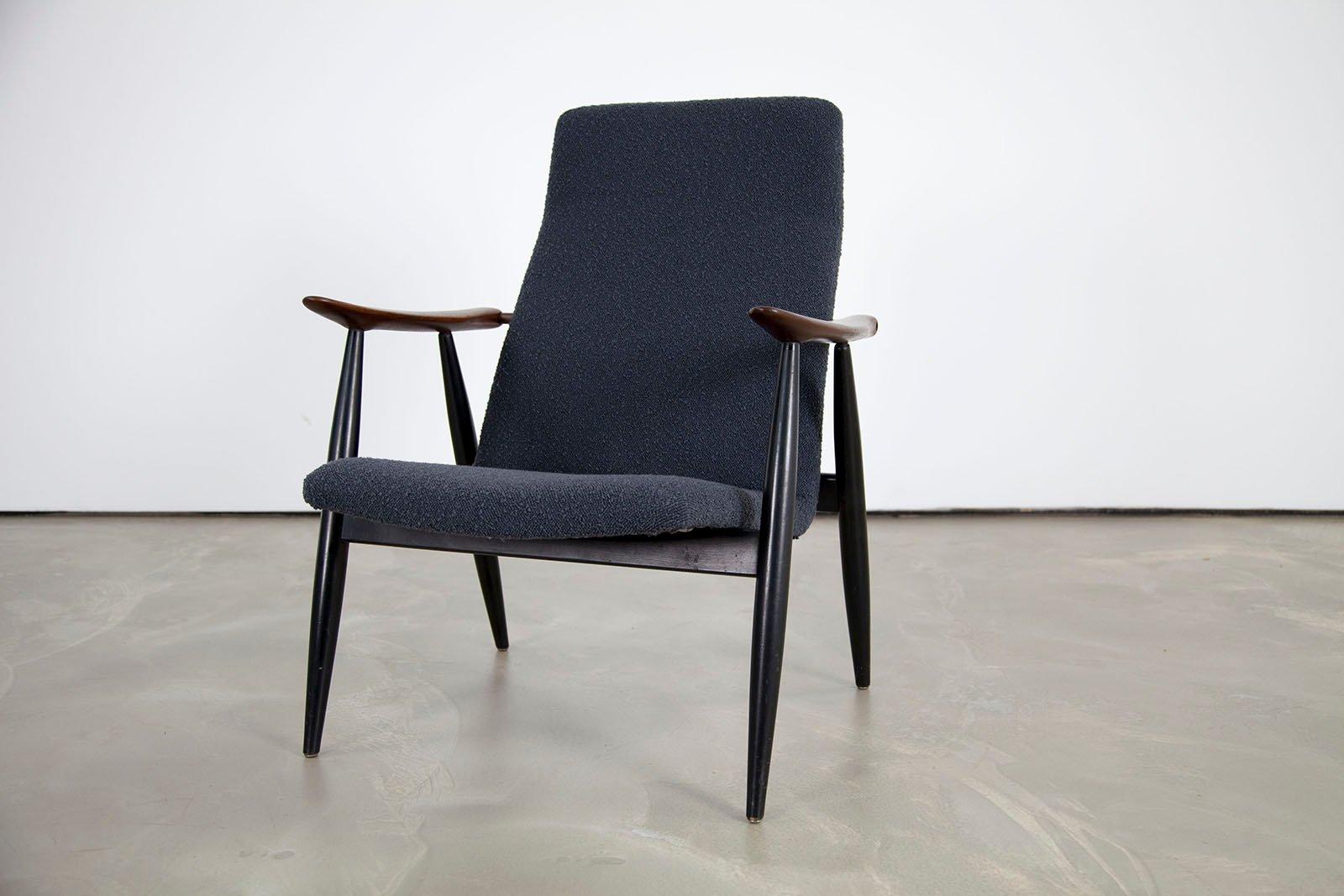 chaise longue vintage scandinave en teck par olli borg. Black Bedroom Furniture Sets. Home Design Ideas
