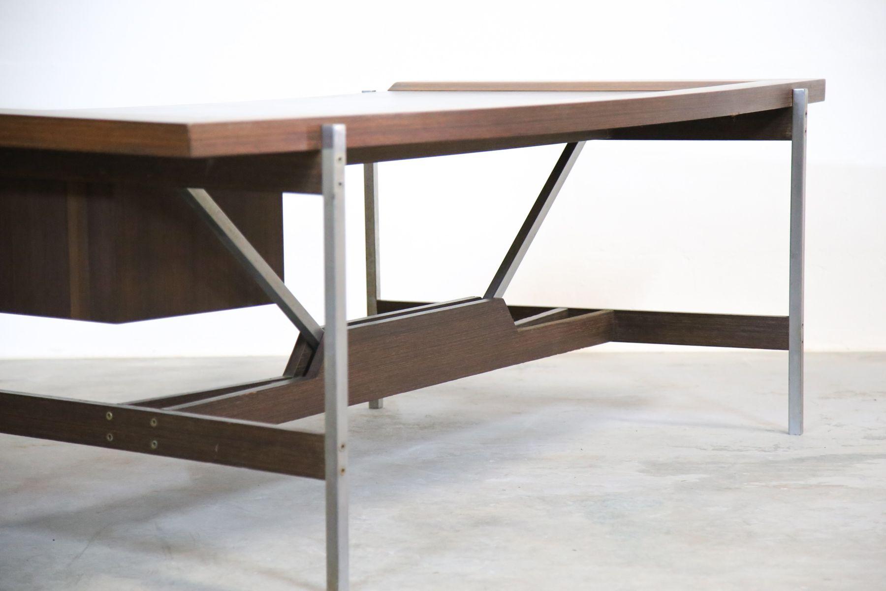 modernistischer vintage palisander b ro schreibtisch bei. Black Bedroom Furniture Sets. Home Design Ideas