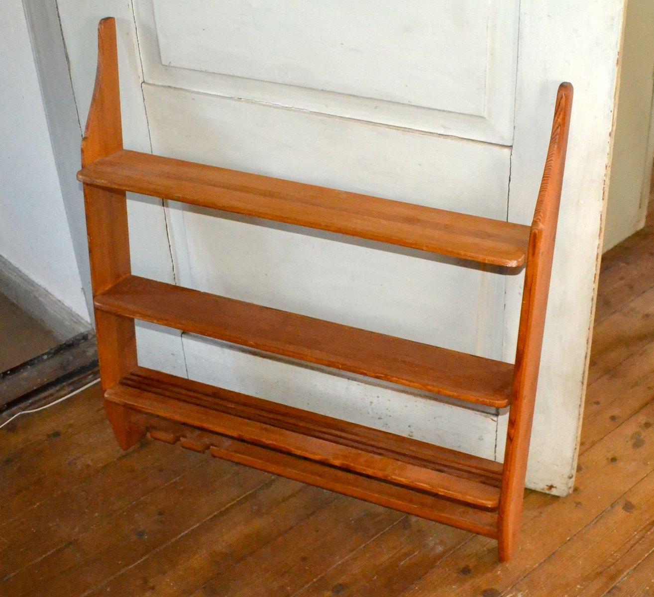 kleines wandregal von carl malmsten f r sj grens 1974 bei pamono kaufen. Black Bedroom Furniture Sets. Home Design Ideas