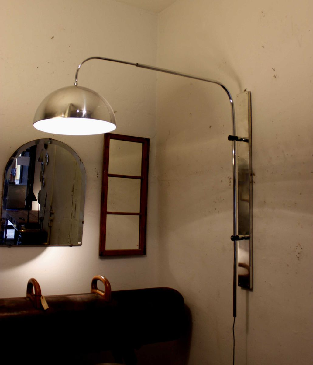 grande applique murale vintage chrom e 1970s en vente sur. Black Bedroom Furniture Sets. Home Design Ideas