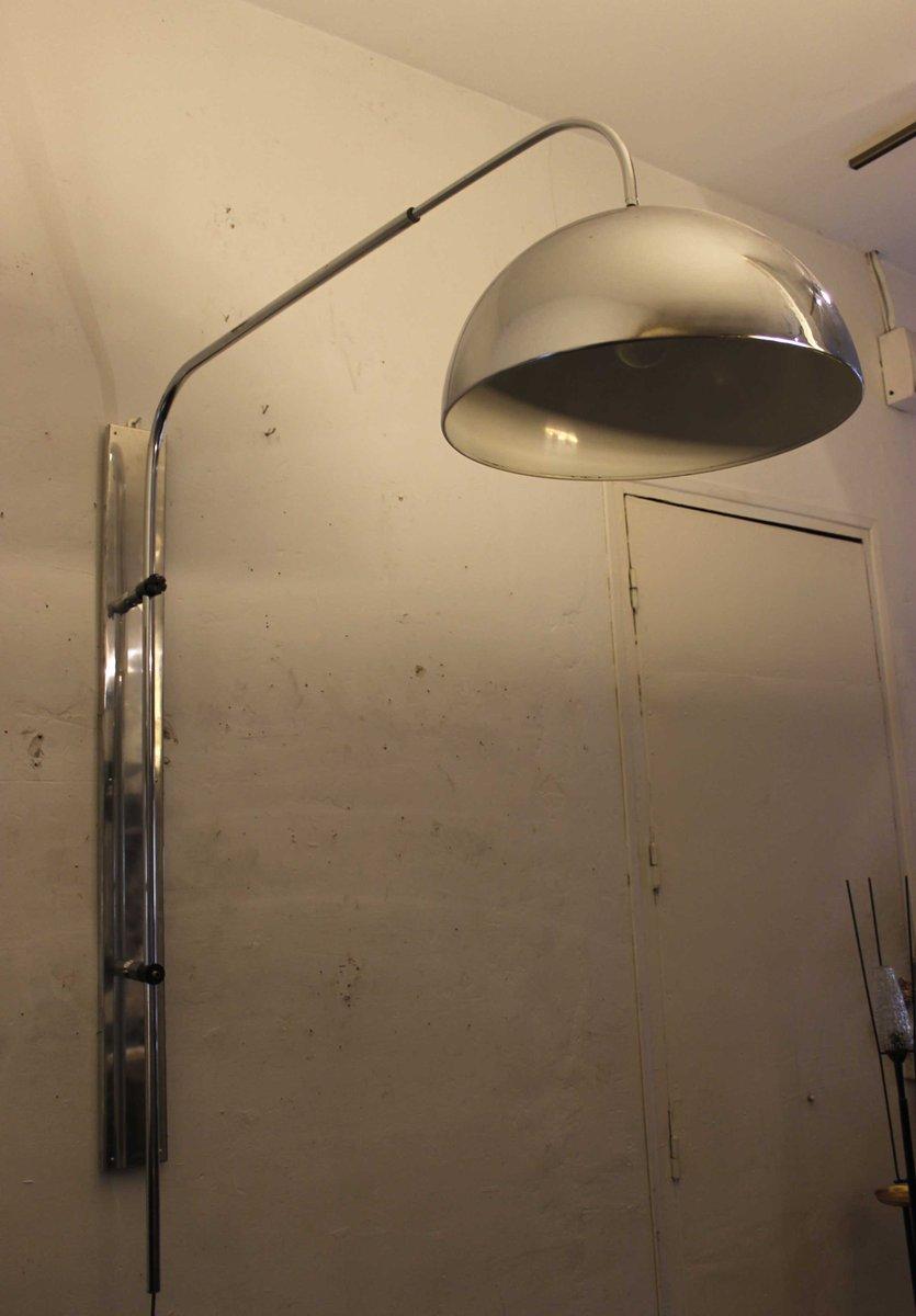 gro e verchromte vintage wandlampe 1970er bei pamono kaufen. Black Bedroom Furniture Sets. Home Design Ideas