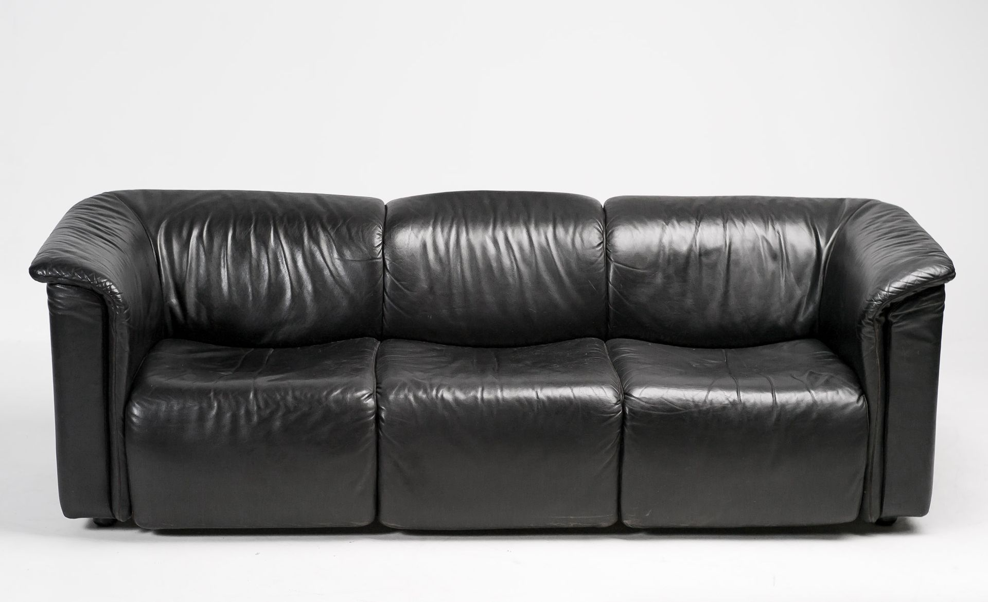 3 sitzer hochbarett ledersofa von wittmann moebel bei pamono kaufen. Black Bedroom Furniture Sets. Home Design Ideas