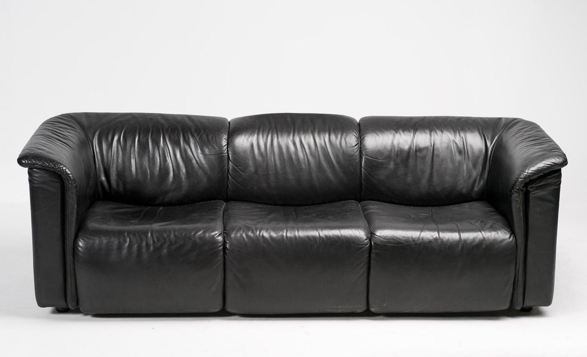 Hochbarett Black Three Seater Sofa From Wittmann Moebel For Sale At Pamono