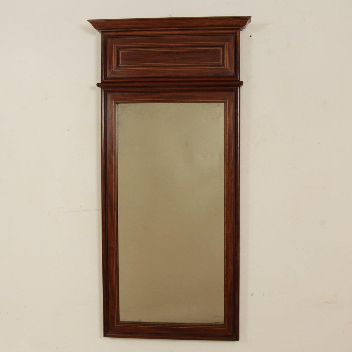gro er mahagoni empire spiegel 1810er bei pamono kaufen. Black Bedroom Furniture Sets. Home Design Ideas