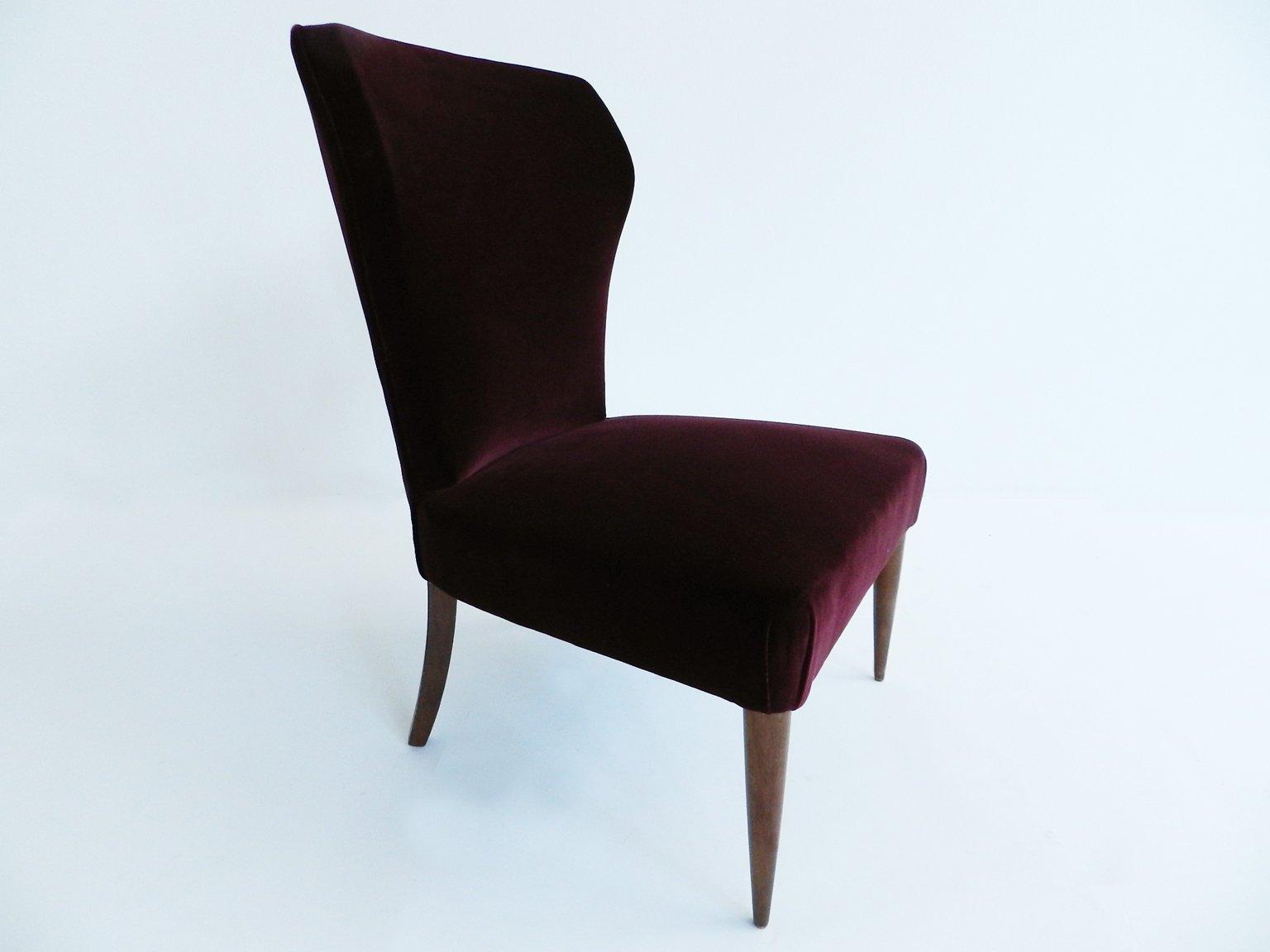 Petit Fauteuil Club Vintage En Velours Italie En Vente Sur Pamono - Petit fauteuil club