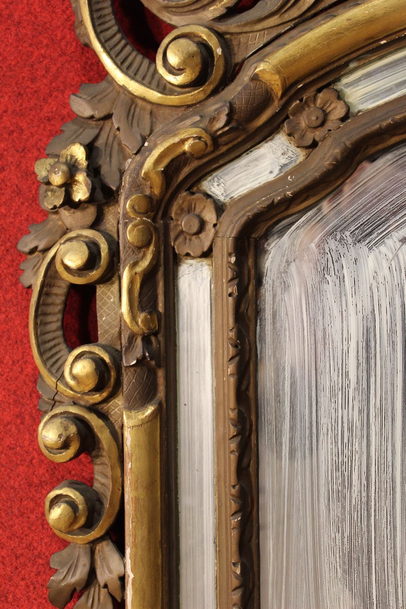Vintage Italian Ornate Gilded Mirror For Sale At Pamono