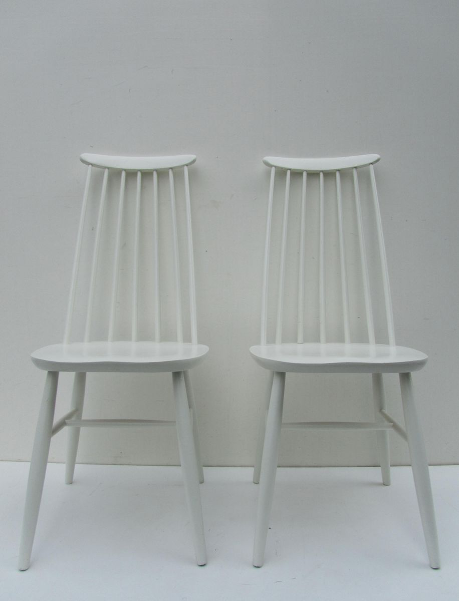 Charming Spindle Back Dining Chairs, 1960s, Set Of 2