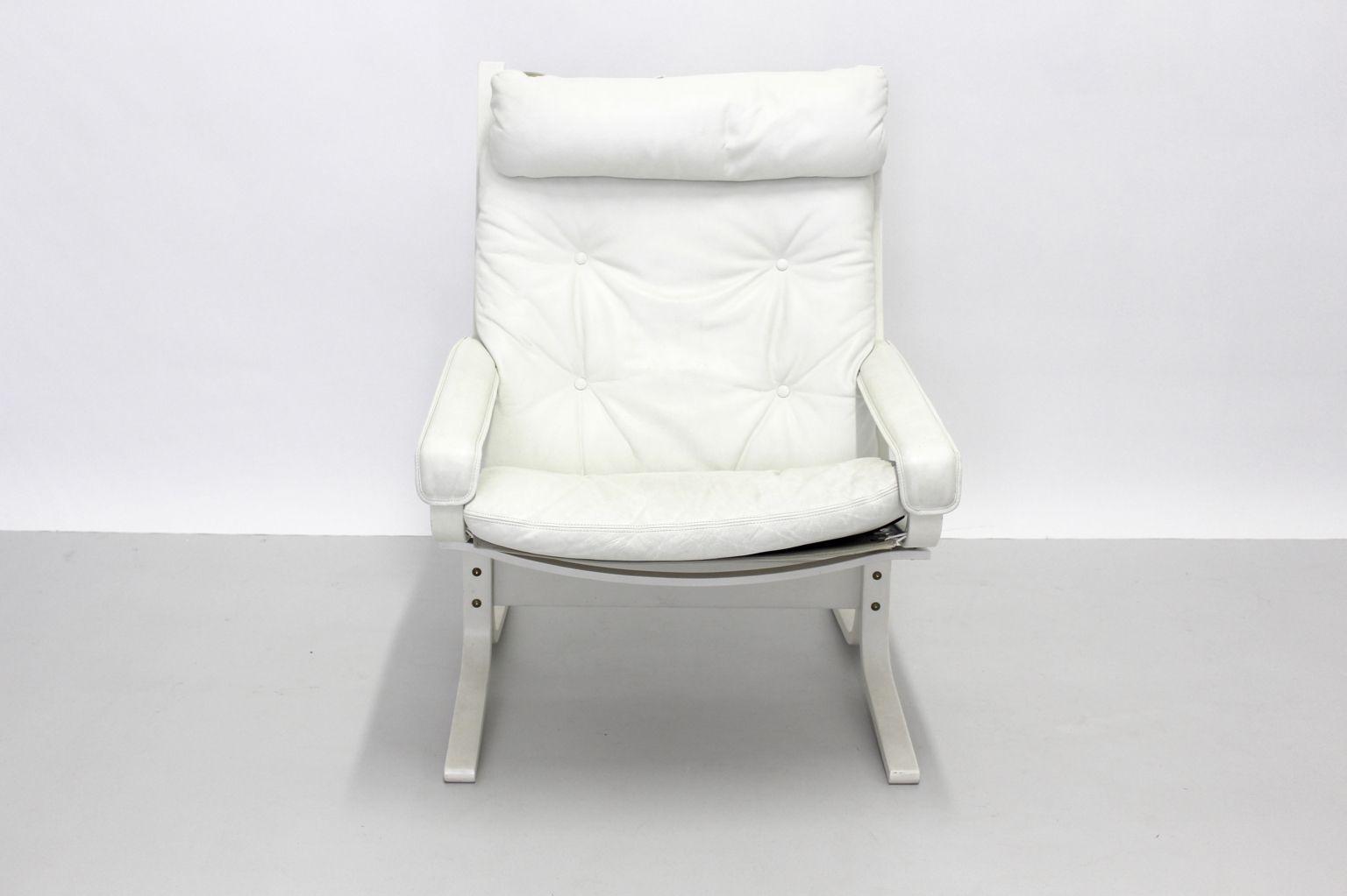 leder lounge sessel siesta von ingmar relling 1960er bei pamono kaufen. Black Bedroom Furniture Sets. Home Design Ideas