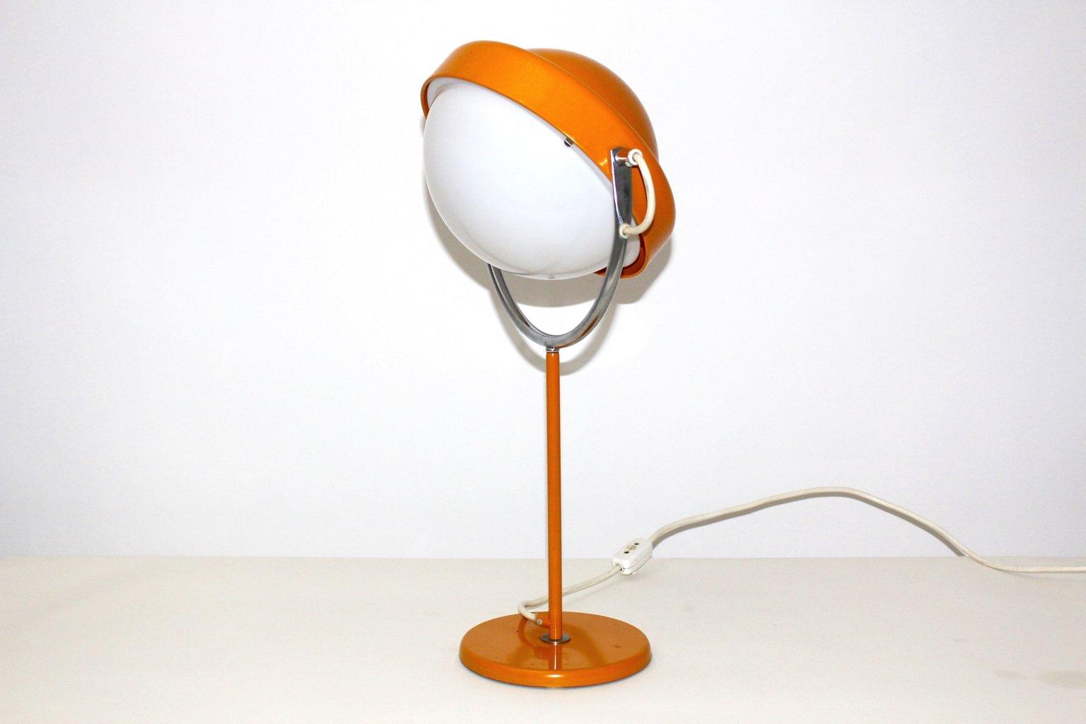 lampe de bureau vintage orange par uno dahlen pour aneta 1960s en vente sur pamono. Black Bedroom Furniture Sets. Home Design Ideas