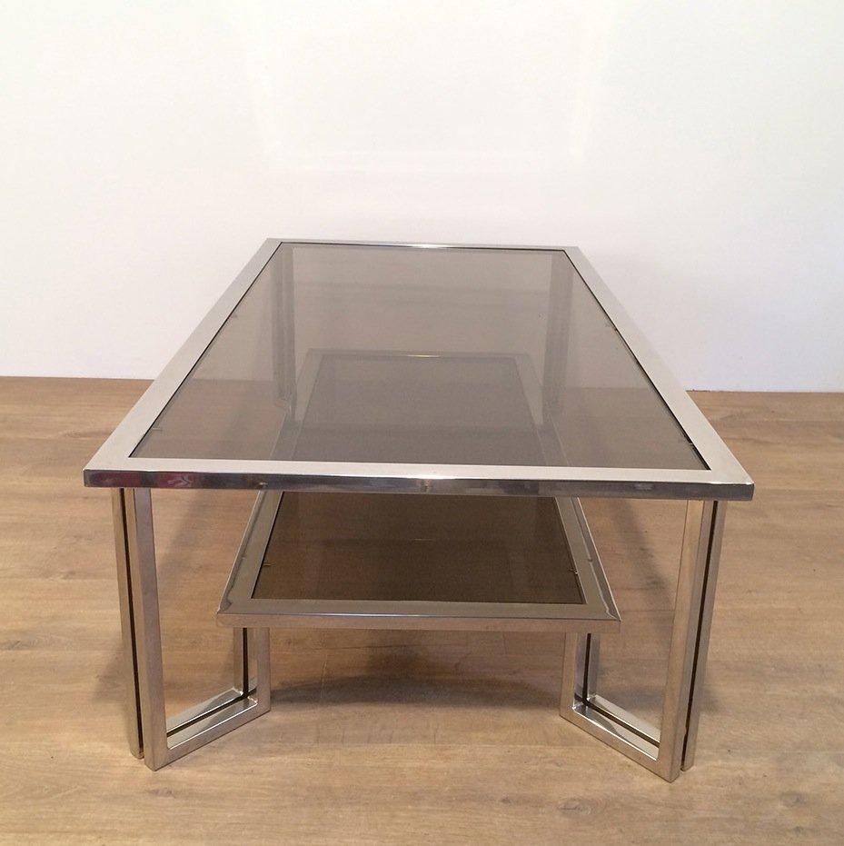 Chrome Smoked Glass Coffee Table 11 1 976 00 Per Piece