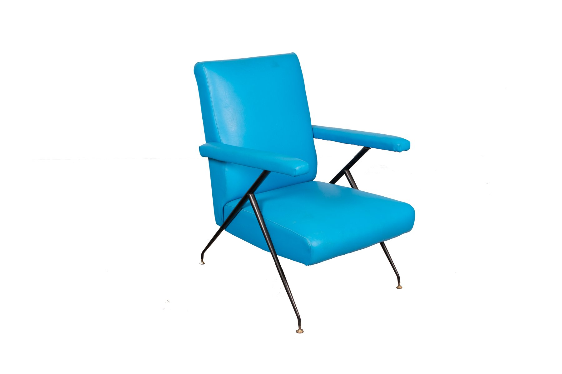 Italian Blue Reclining Armchair 1960s For Sale At Pamono