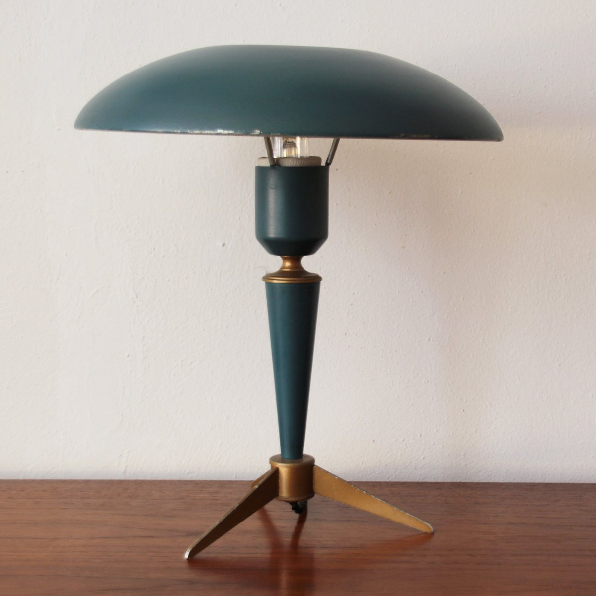 Vintage Tripod Table Lamp By Louis Kalff For Philips For Sale At Pamono
