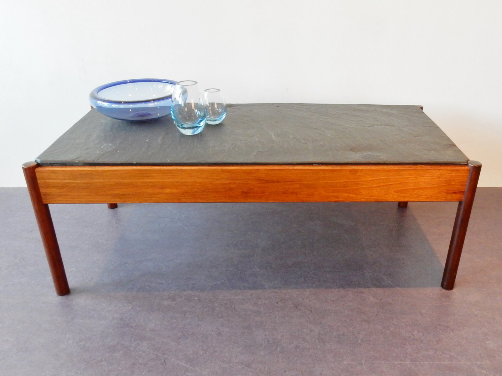 Vintage stone tile coffee table for sale at pamono for Tile coffee table