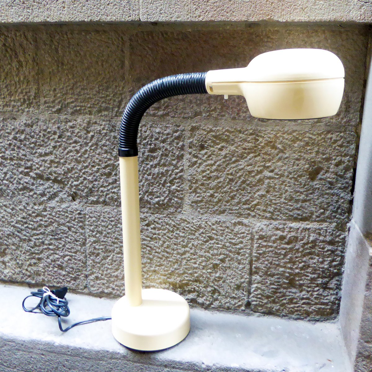 Beige Swedish Gooseneck Desk Lamp From Fagerhult, 1970s
