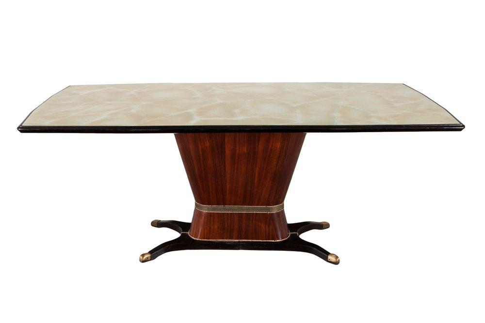 italienischer vintage tisch aus palisander glas von. Black Bedroom Furniture Sets. Home Design Ideas