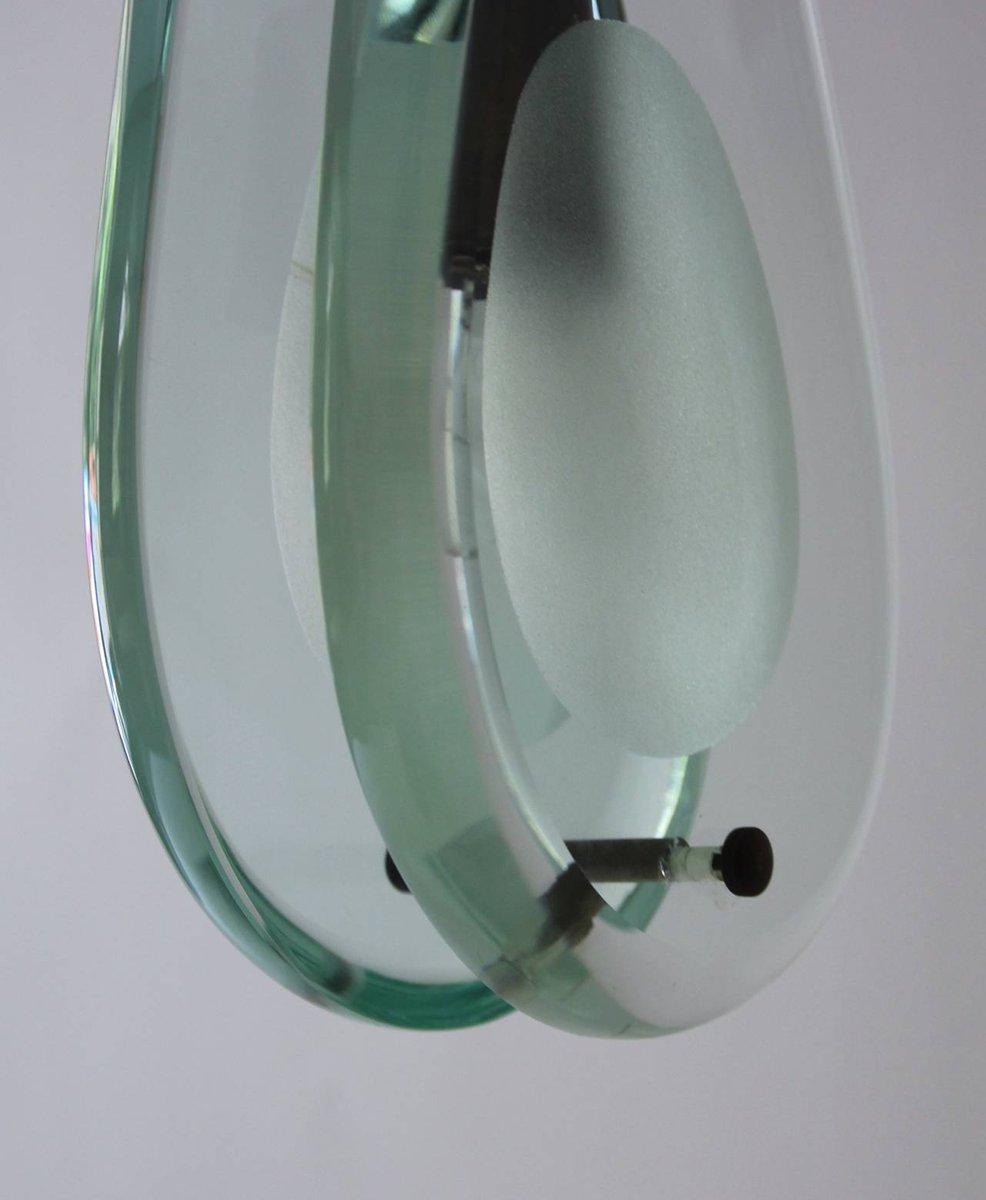 Lampada in cristallo e ottone di Max Ingrand per Fontana Arte ...